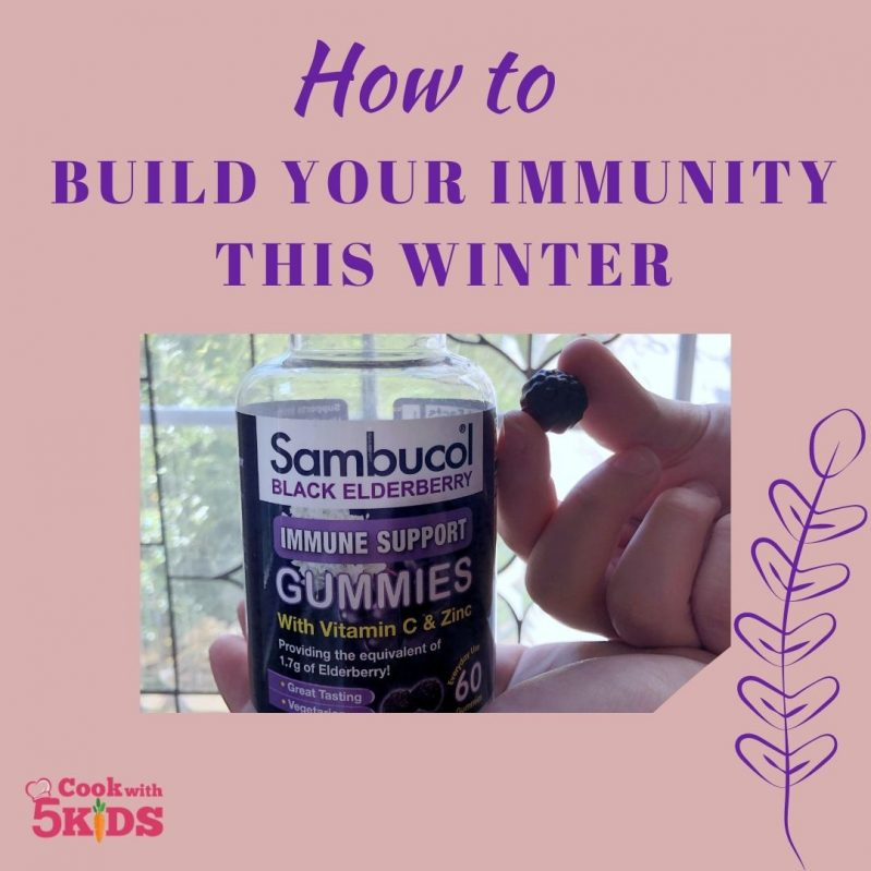 one gummy a day of Sambucol keeps up your immunity