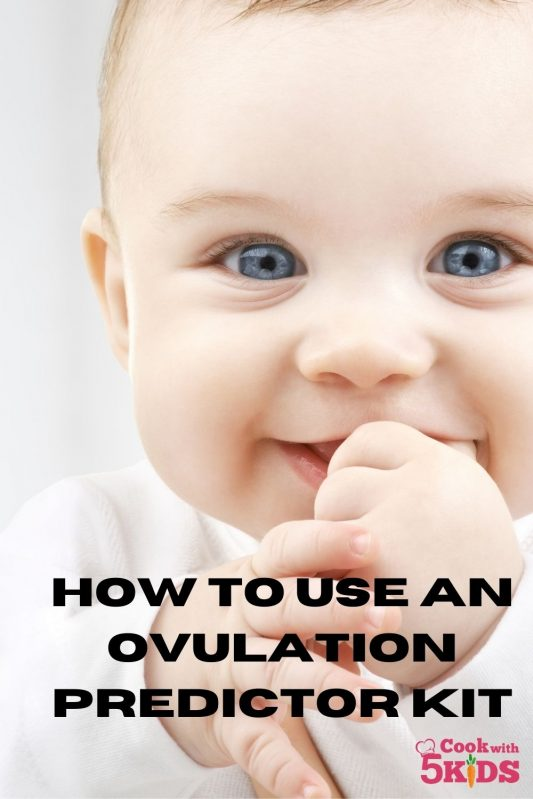 cute baby smiling and how to use an ovulation predictor kit