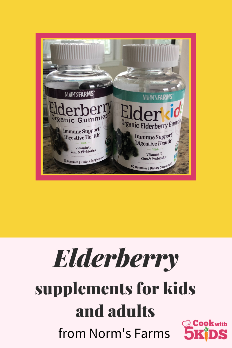 norms farms elderberry supplements for kids and adults