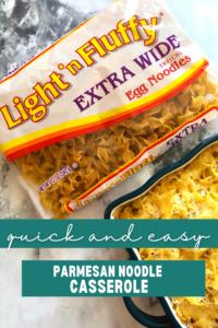 pasta casserole with egg noodles and parmesan