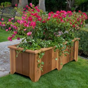the charming bench rectangular planter