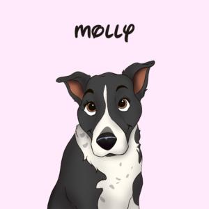 joy and nola hand drawn dog photo