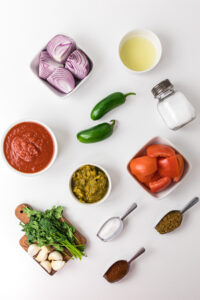 ingredients for homemade salsa